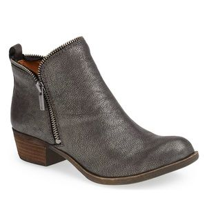 """Lucky Brand """"Bartalino"""" Pewter Gray Ankle Boots"""